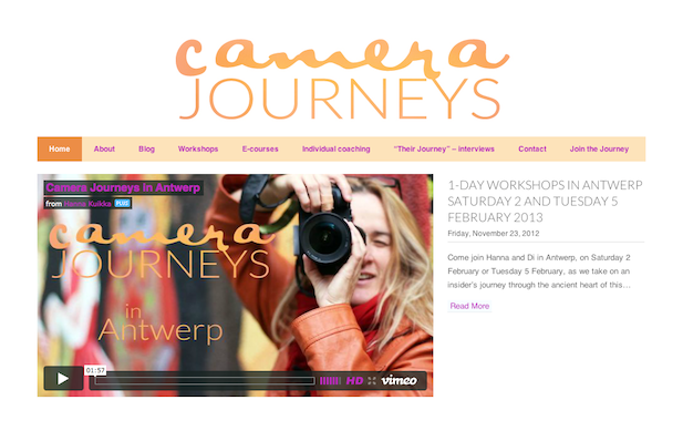 Camera Journeys website