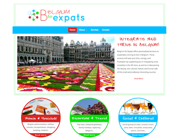 Belgium for Expats website