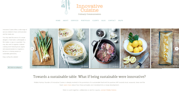 Innovative Cuisine website